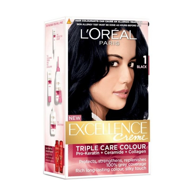 Loreal 1 Black = 34ml+26g