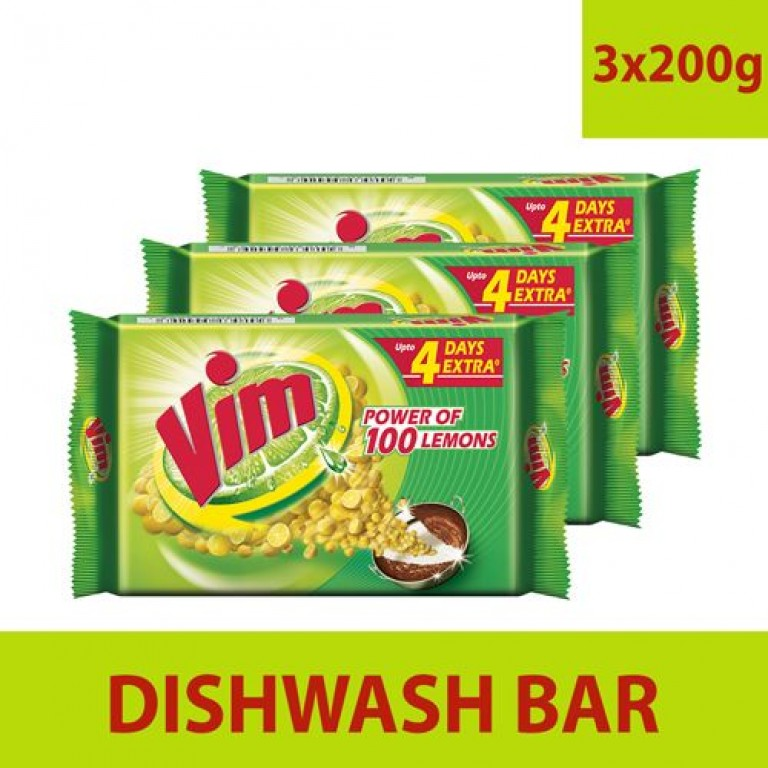 Vim Dishwash Bar 3+200gm