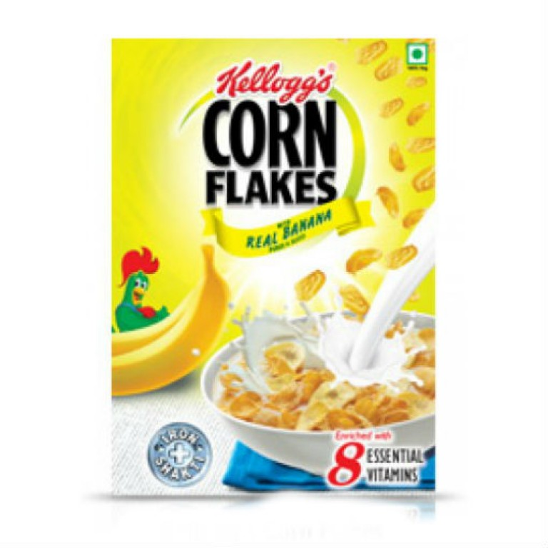 kellogg's corn flakes real banana 300g