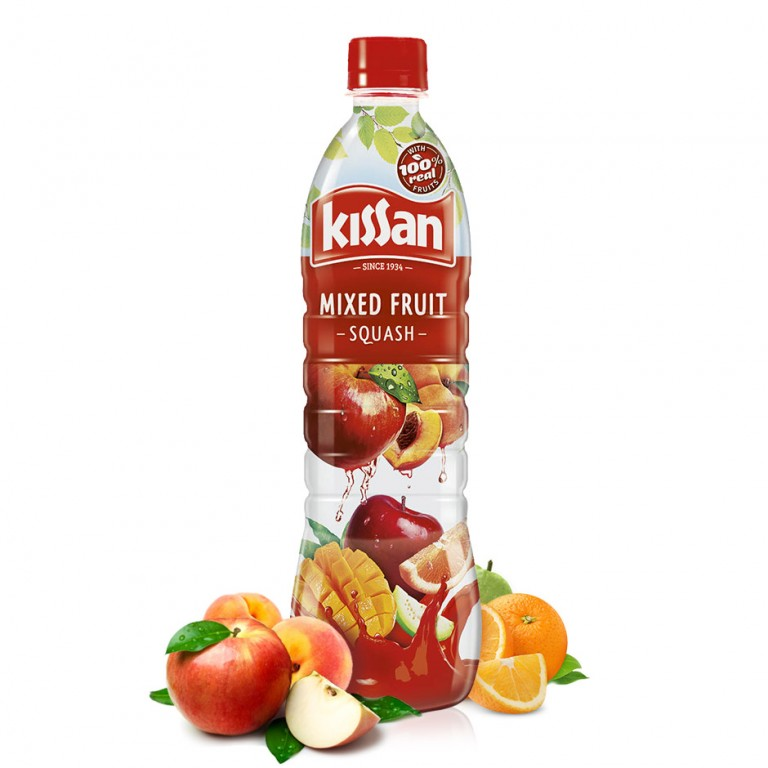 kissan lime mixed fruite 750ml cordial