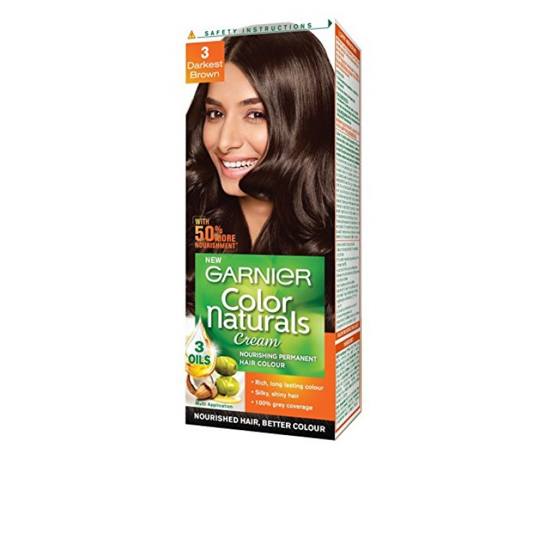 Garnier color natural 3 darkest brown