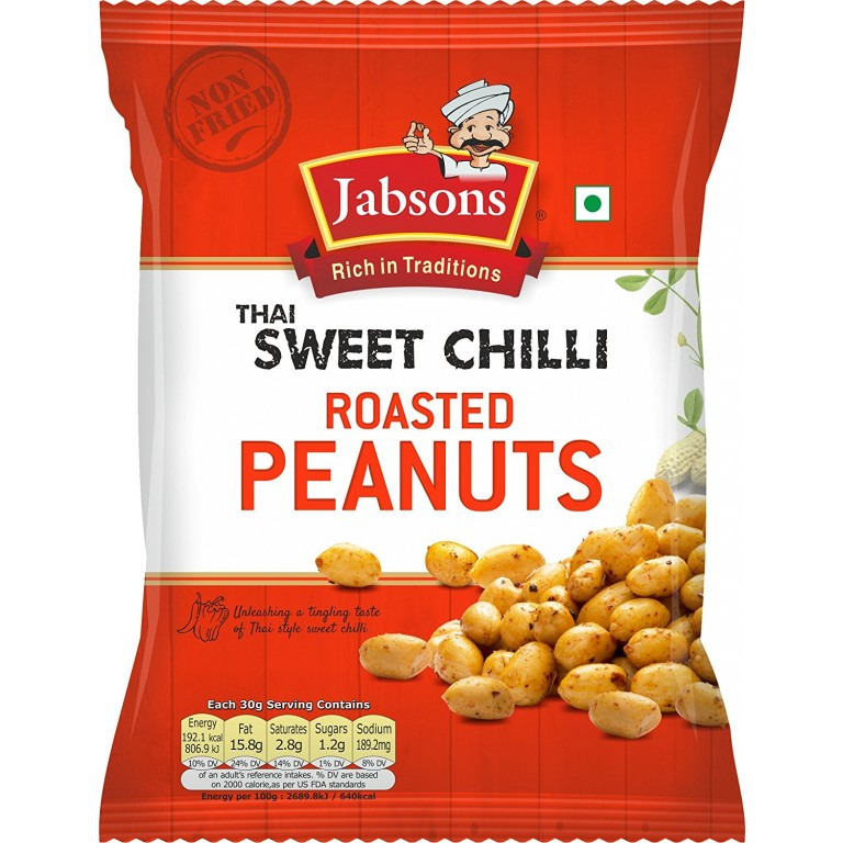 Jabsons Sweet Chilli Roasted Peanuts 140g