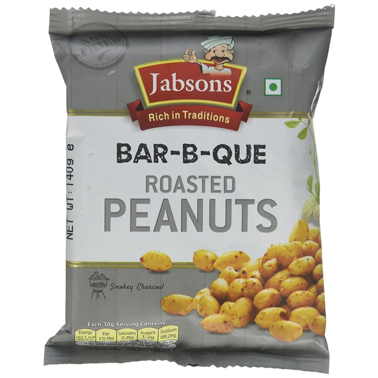 Jabsons Bar-B-Que Roasted Peanuts 140g