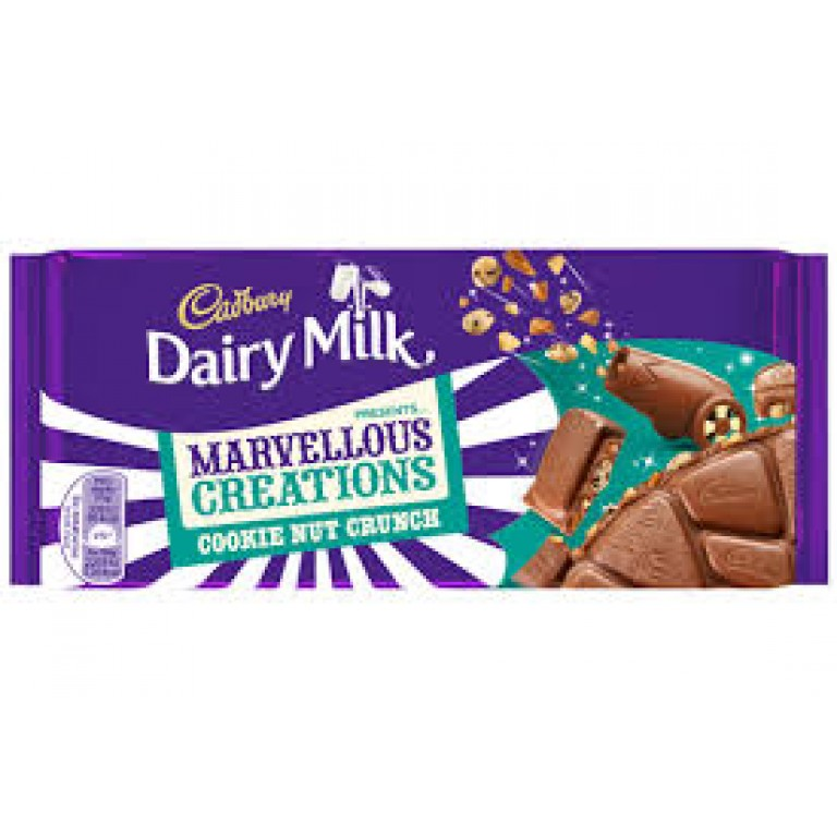 Cadbury Dairy Milk Marvellous Creations Cookie Nut Crunch 75gm