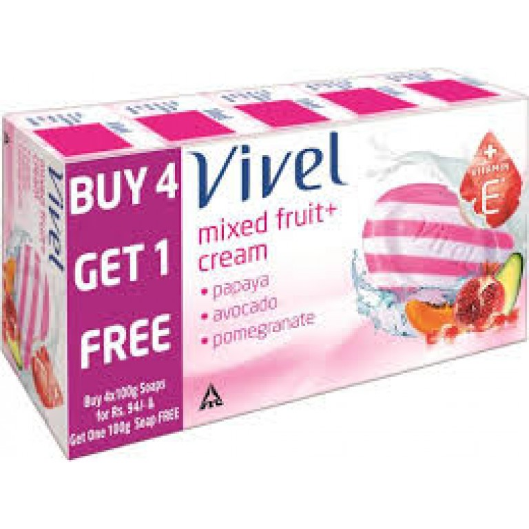 vivel mixed fruit soap 4 in 1