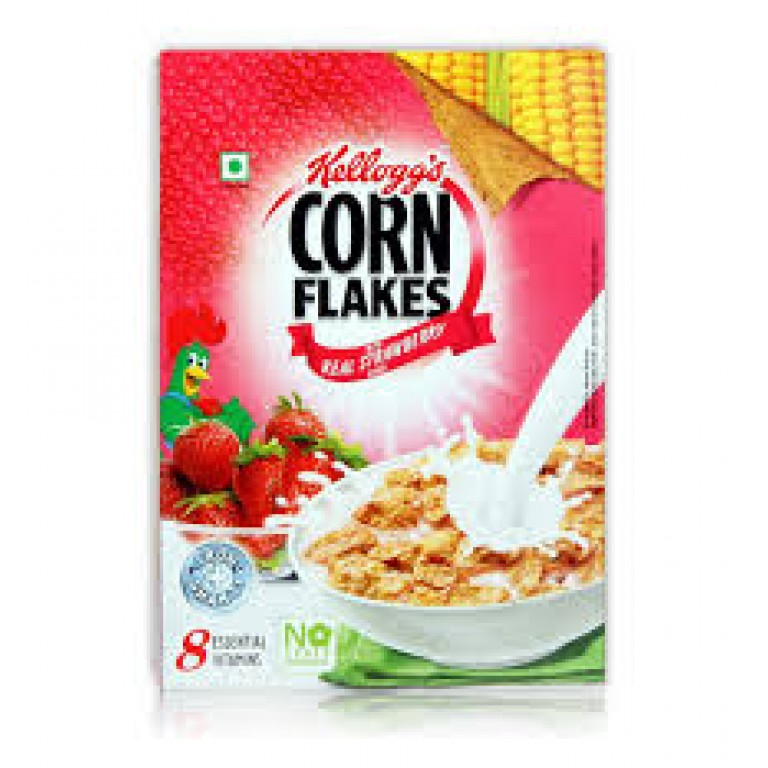 kellogg's corn flakes real strawberry 300g