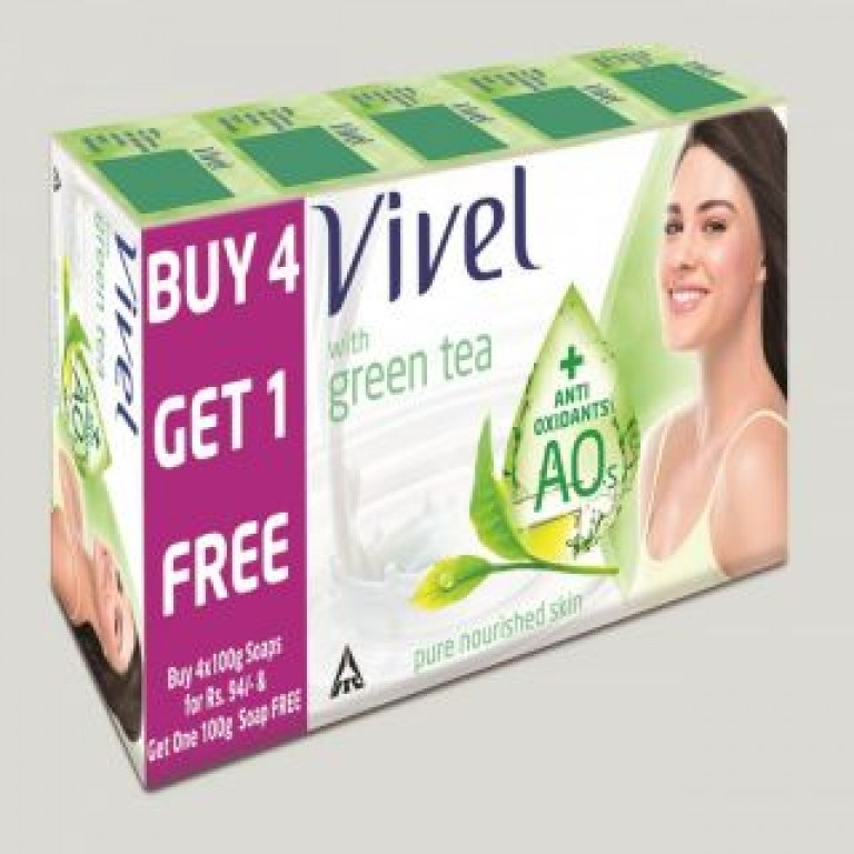vivel green tea soap 4 in 1