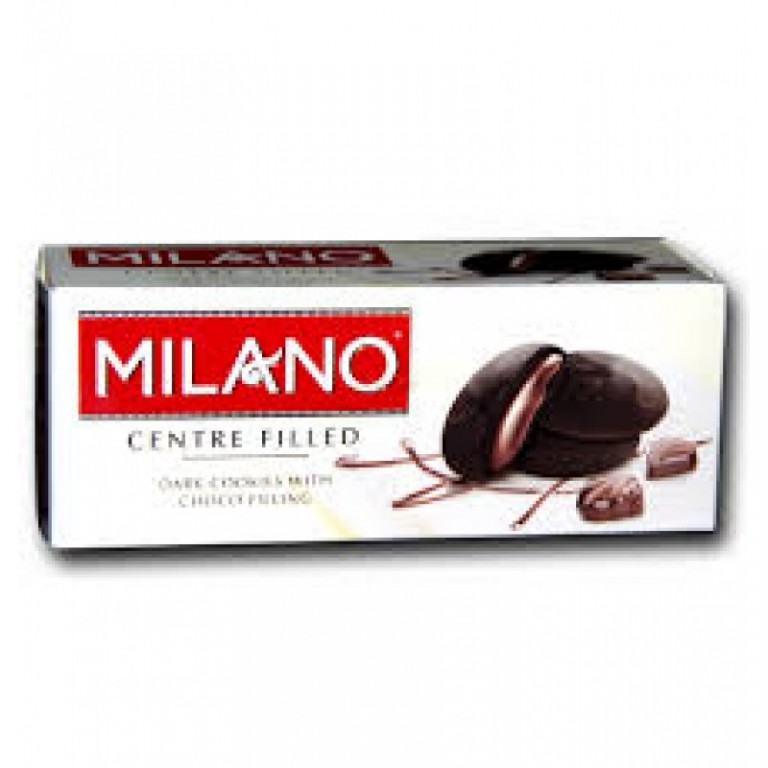 milano centre filled dark cookies 75g