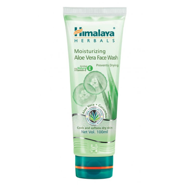 himalaya moisture aloe vera face wash 100ml