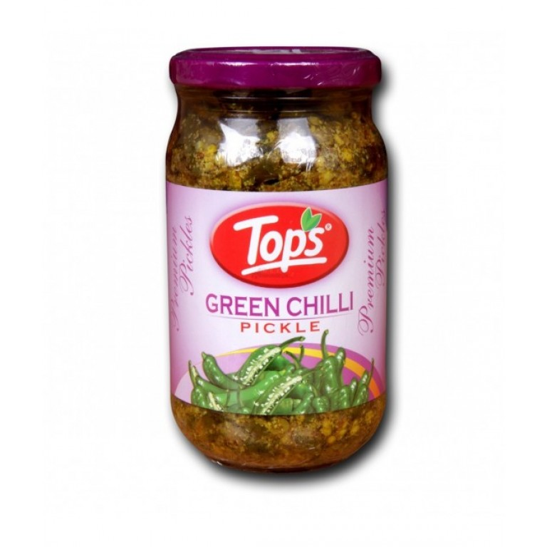 Tops Green Chilli Pickle 400g