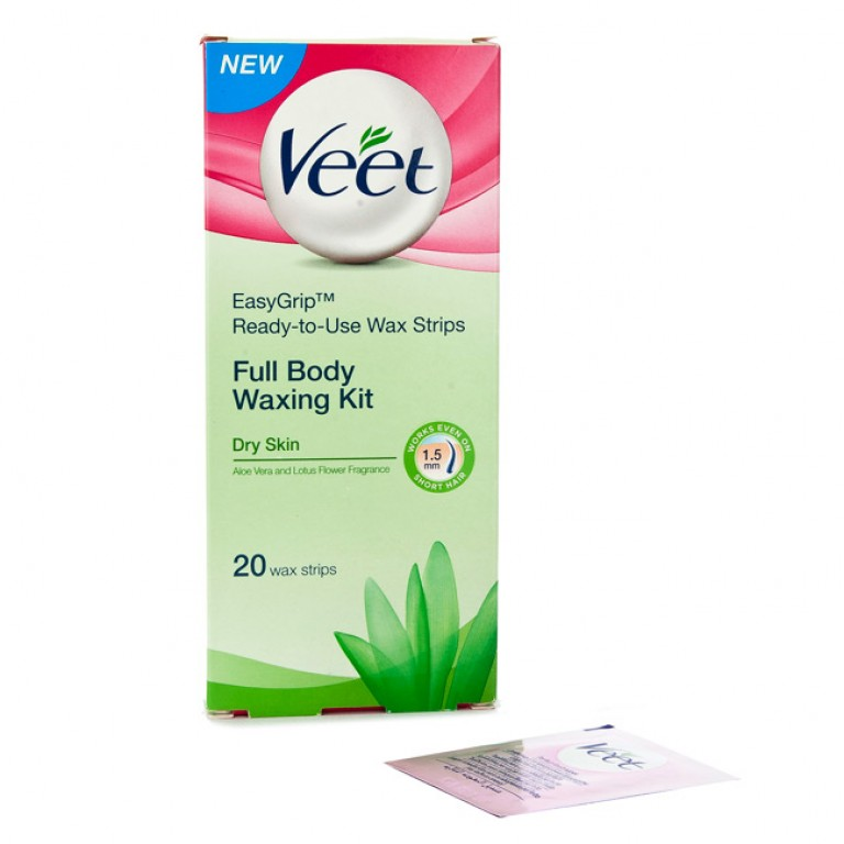 veet full body waxing kit dry skin